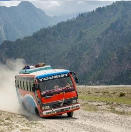 Bus local au Népal