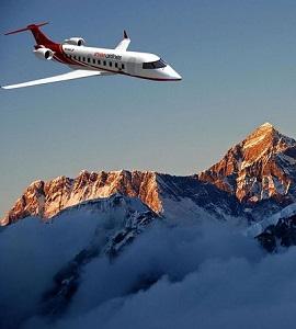 Vol de montagne sur l'Everest