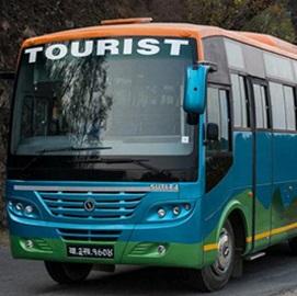 Bus touristique au Népal
