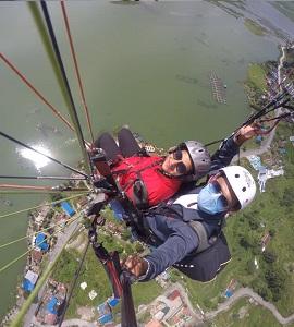 Parapente à Pokhara