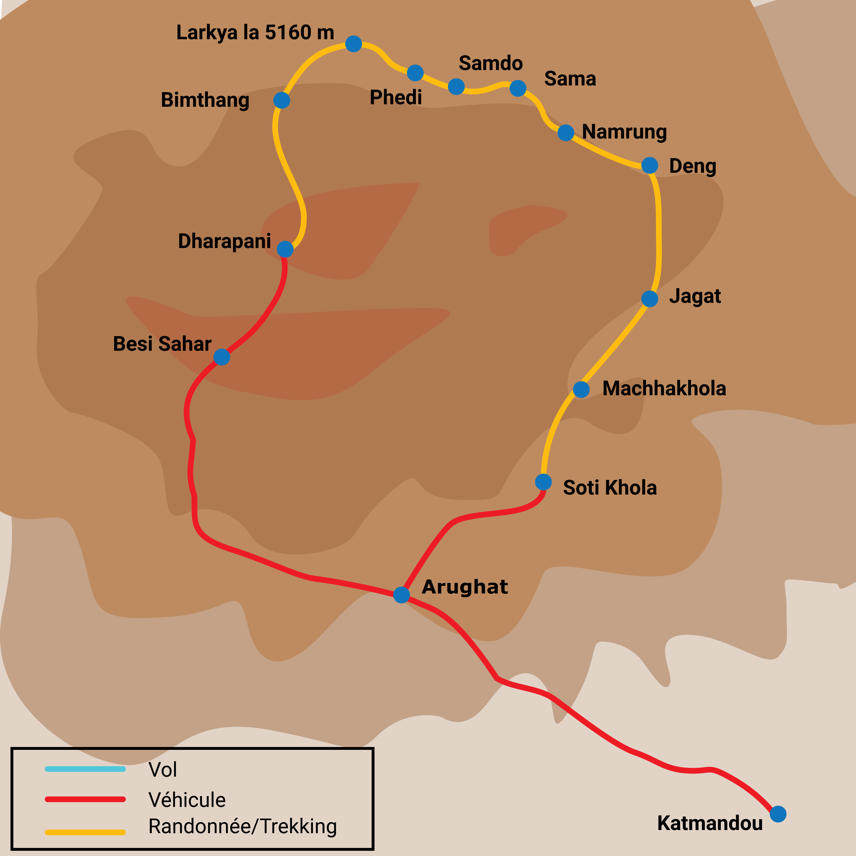 Le trek grand tour du Manaslu